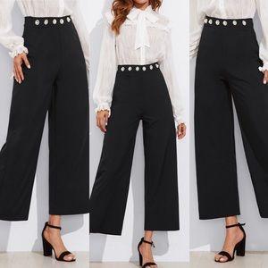 🆕Wide leg pearl detail waist gorgeous pants